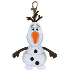 TY Disney Frozen Olaf Frost Olof Nyckelring Gosedjur Med Ljud Mj Vit