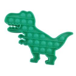 Fidget Toy Pop It Leksak Stress Relax Grön Dinosaur T-Rex Grön