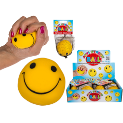 Kläm Och Formbar Smiley Stressboll Stress Relax Boll Squeeze Gul