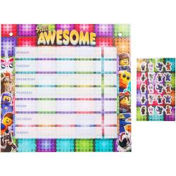 Lego Movie Belöningstavla(50st) Med Klistermärken/Stickers(200st multifärg