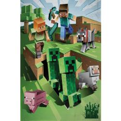 Minecraft Battle Filt Fleecefilt 130x170cm multifärg
