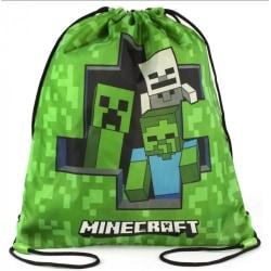 Minecraft Creeper Zombie Skeleton Gympapåse Skoväska  multifärg