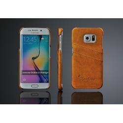Plånboksfodral/Skal Samsung Galaxy S6 Edge  2st Korthållare Gul