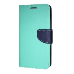Samsung Galaxy A8+ 2018 Plånboksfodral Fancy Case Mint-Navy Mynta