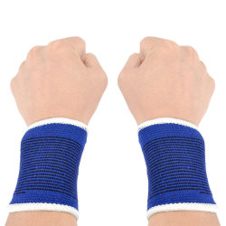 Vrist Handled Stöd Sport Idrott Support Skada 2.Pack Blå