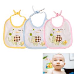1 X Cartoon Haklappar Söt Baby Vattentät Djur Barn Spädbarn Lunch Pink