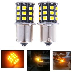 2st 1156 BA15S 2835 33-SMD Gul LED-lampor Bil Blinkers La One Size