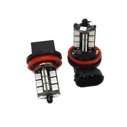 2x H11 H8 H9 5050 LED 27SMD RGB Bilstrålkastare Dimstrålkastare La One Size