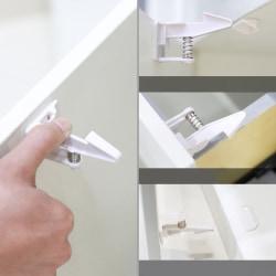Barnskydds lådlås med starkt lim Lämpligt för drawe white