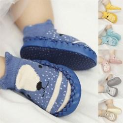 spädbarn första vandrare läder baby bomull nyfödda småbarn mjuk så Pink Fox M