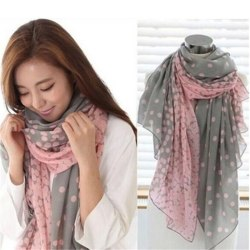 Nytt mode Dam '' 's Lady Long Candy färger Scarf Sjal Wraps Grey Pink 170*80cm
