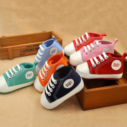 Småbarn Baby Boy Girl 20 färger Portable Soft Sole Crib Shoes I N11 Red