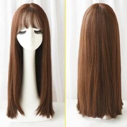 Peruk / Långt hår 67cm - Choklad Brun