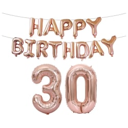 Födelsedagsballonger till 30-åring