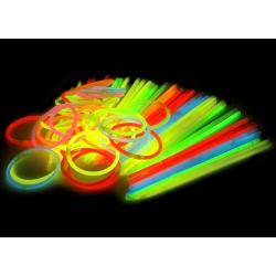 Glowsticks 100-Pack armband i Röd färg