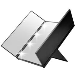 Hopfällbar Spegel med LED-Belysning