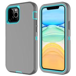 iPhone 12 / 12 Pro - Shockproof Xtreme Skal - Grå/Blå Blue Blå