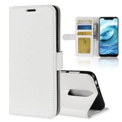 Nokia 5.1 Plus - Plånboksfodral - Vit White Vit