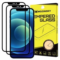 iPhone 12 Pro Max - 2-pack Wozinsky Heltäckande Skärmskydd - Sva Black Svart