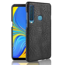 Samsung Galaxy A9 (2018) - Krokodil Mönster Skal - Svart Black Svart