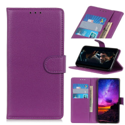 Xiaomi Mi A3 - Plånboksfodral Litchi - Lila Purple Lila