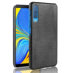 Samsung Galaxy A7 (2018) - Krokodil Mönster Skal - Svart Black Svart