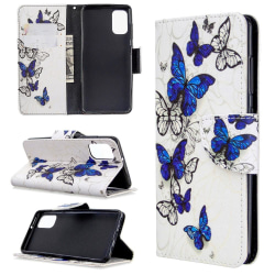 Samsung Galaxy A41 - Plånboksfodral - Blå Fjärilar
