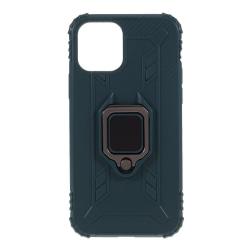 iPhone 12 / 12 Pro - Shockproof Ring Skal - Grön Green Grön