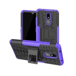 Nokia 3.2 - Ultimata stöttåliga skalet med stöd - Lila Purple Lila