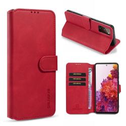 Samsung Galaxy S20 FE - DG.MING Retro Fodral - Röd Red Röd