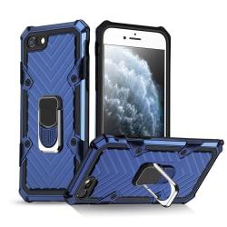 iPhone 7/8/SE (2020) - Shockproof Hybrid Ring Skal - Blå Blue Blå