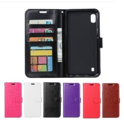 Samsung Galaxy A10 - Plånboksfodral - Välj Färg! Black Svart