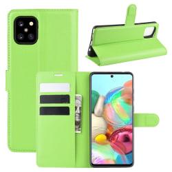 Samsung Galaxy Note 10 Lite - Litchi Plånboksfodral - Grön Green Grön