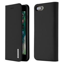 iPhone 7/8 Plus - DUX DUCIS Wish Äkta Läder Fodral - Svart Black Svart