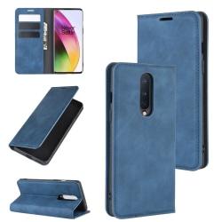 OnePlus 8 - Silkeslent Plånboksfodral - Mörk Blå Mörkblå