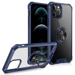 iPhone 12 / 12 Pro - Hybrid Ring Skal - Blå Blue Blå