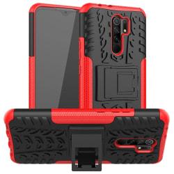 Xiaomi Redmi 9 - Ultimata Stöttåliga Skalet med Stöd - Röd Red Röd
