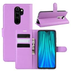 Xiaomi Redmi Note 8 Pro - Litchi Plånboksfodral - Lila Purple Lila