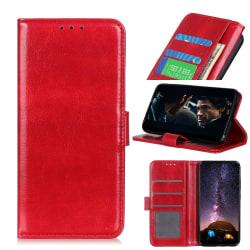 Sony Xperia 10 II - Crazy Horse Plånboksfodral - Röd Red Röd
