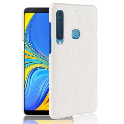 Samsung Galaxy A9 (2018) - Krokodil Mönster Skal - Vit White Vit