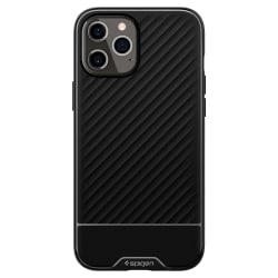 iPhone 12 / 12 Pro - Spigen Core Armor Skal - Svart Black Svart