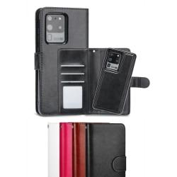 Samsung Galaxy S21 Ultra - Plånboksfodral / Magnet Skal 2 in 1 - White Vit
