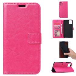 iPhone 11 Pro Max - Crazy Horse Plånboksfodral - Rosa Pink Rosa
