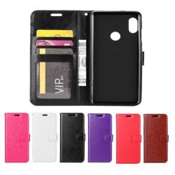 Samsung Galaxy A40 - Plånboksfodral - Välj Färg! Black Svart