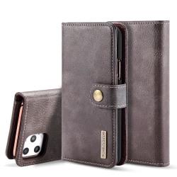 iPhone 11 Pro Max - DG.MING Plånboksfodral/Magnet Skal - Grå Grey Grå