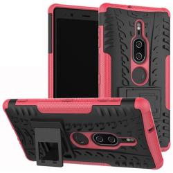 Sony Xperia XZ2   Ultimata stöttåliga skalet med stöd   Rosa Pink Rosa