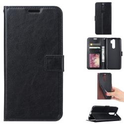 Xiaomi Redmi Note 8 Pro - Crazy Horse Plånboksfodral - Svart Black Svart