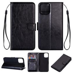 iPhone 11 Pro Max -  Plånboksfodral - Svart Black Svart