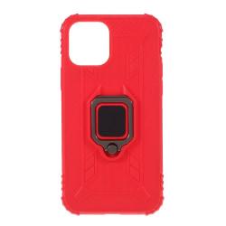 iPhone 12 / 12 Pro - Shockproof Ring Skal - Röd Red Röd