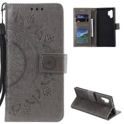 Samsung Galaxy A32 5G - Mandala Läder Fodral - Grå Grey Grå
